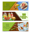 bbq summer picnic banners set vector image