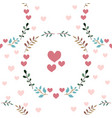 Love seamless pattern retro style with hearts vector image