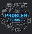 black line flat circle problem vector image