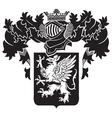 heraldic silhouette No19 vector image