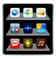Square high-detailed icons vector image