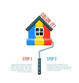 Paint House Icon vector image