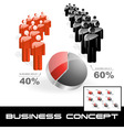 business graphs vector image vector image