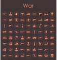 Set of war simple icons vector image