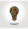 Creative light bulb with colorful network vector image