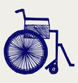 Invalid chair vector image