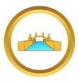 Rialto Bridge Canals of Venice icon vector image
