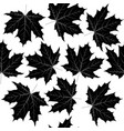 seamless pattern with black leaves vector image