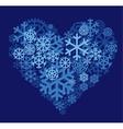Snow heart vector image