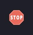 Stop Sign Icon computer symbol vector image