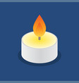 tea candle icon floating candle vector image