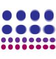 vibrant circle vibrating blue purple circle vector image