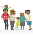 Happy african family portrait Father and mother vector image