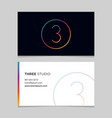 business-card-number-3 vector image vector image