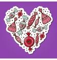 Sweet candies heart vector image vector image
