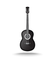 black acoustic guitar vector image vector image