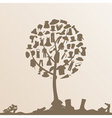 clothes tree vector image vector image