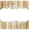 frame for design on wooden background vector image