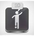 Football app icon vector image vector image