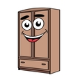 Cartoon wardrobe furniture character vector image