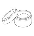 cream containers out line vector image