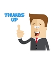 Happy businessman or manager Sign thumbs up vector image