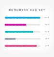 infographic progress loading bars vector image