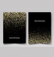 invitation template with gold glitter confetti vector image