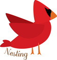 Nesting Cardinal vector image