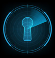 technology radar screen security keyhole vector image