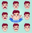 Set of different style mustaches vector image