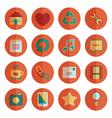 round media icons vector image