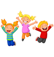 Happy kid cartoon vector image