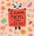 loving panda vector image vector image