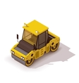 isometric road roller vector image