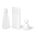 blank cosmetic tubes bottles and containers vector image