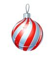 christmas ball for firtree vector image vector image