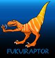 Fukuiraptor cute character dinosaurs vector image