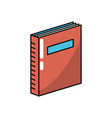 book object to education knowledge literature vector image