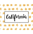 California modern calligraphy vector image