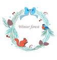 christmas frame with forest vector image