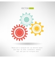 Colorfull gears icons set Business teamwork vector image