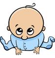 cute baby boy cartoon vector image