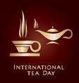 international tea day vector image