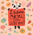 loving panda vector image