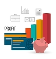 Profit icons design vector image