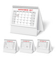 Realistic wall calendar with spring vector image