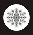 snowflake icon gray silhouette snow flake sign vector image
