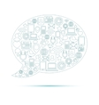 Social Media Bubble vector image