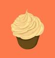 sweet creamy cupcake vector image
